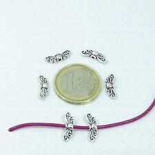 120 Abalorios Alas 14x4mm T06X Spacer Beads Tibetan Perles Perline Wings Beads