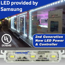 Crystal Vision Samsung PLUG ANG PLAY Store Front Window LED Light Kit 50ft White