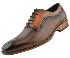 Mens Dress Shoes, Two Tone Oxford Shoes for Men, Lace Up Tuxedo Shoes