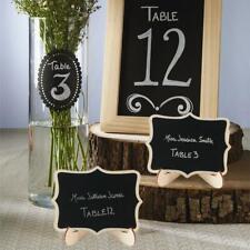 20pcs Mini Blackboard Wooden Wedding Table Number Signs Chalkboard w/ Stand