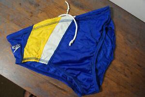 Vintage Speedo Swimming Briefs Swim Trunks Size 34 Striped p54