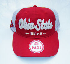 OHIO STATE University OSU BUCKEYES Relaxed Fit Mesh Snapback Baseball Hat NWT