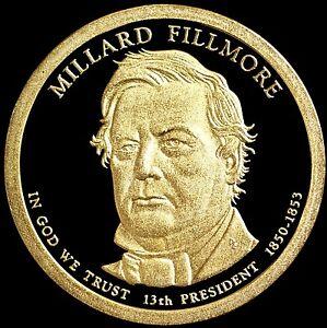 "2010 S Millard Fillmore Presidential Dollar Gem Deep Cameo ""PROOF"" US Mint Coin"