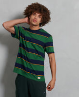 Superdry Mens Organic Cotton R&P Box Fit Stripe T-Shirt