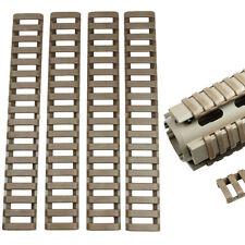 "7"" Handguard  Ladder Rail Covers 4 Pack Weaver /Picatinny - DARK EARTH COLOR"