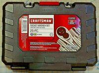 "Craftsman 25 PC 1/4"" + 3/8"" Drive Inch SAE + Metric MM Socket Wrench Set 9_10295"