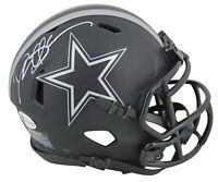 Cowboys Deion Sanders Authentic Signed Eclipse Speed Mini Helmet BAS Witnessed