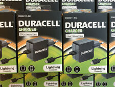 Wholesale  10 x Duracell 2.4A 1 M Apple Lightning EU Power Adapter Mains Charger