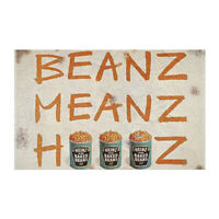 Heinz Beanz Metal Advertising Garage Sign Vintage Workshop Shed Garage Plaque