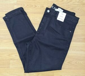 M&S ladies BLACK size 16 short PETITE mid rise SUPER SKINNY jeans STRETCH BNWT