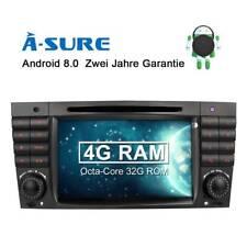 Android 8.0 Autoradio DVD GPS DAB+ 4G RAM Benz C Klasse C/CLK KLASSE W203 W209