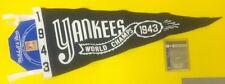 YANKEES CLASSICS MITCHELL & NESS PENNANT W/ CARD 1943 WORLD SERIES #'D /96