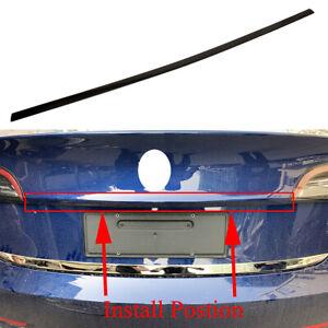 For Tesla Model 3 2018 2019 Black Rear Tailgate Trunk Lid Sill Stripe Cover Trim