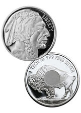 Sunshine Mint 1 Troy Oz .999 Fine Silver Buffalo Round SKU34723