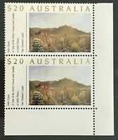 1990 $20 Stamps 'Gardens - Definitive Issue' - Corner Block of 2 - MNH