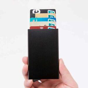 Mens RFID Blocking Slim Money Clip Carbon Fiber Wallet ID Credit Card Holder new