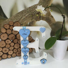 Freestanding Personalised Wooden Letter Handmade New Baby or Christening