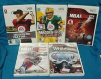 Shaun White, NHL, NBA, Madden, Tiger Woods - Nintendo Wii Sports Game Lot Tested