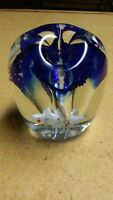 Vintage Gentile Art Glass Paperweight PEN PENCIL HOLDER for DESK 3 Hole