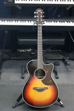 YAMAHA AC1R SOLID TOP ACOUSTIC / ELECTRIC GUITAR WITH HARDSHELL CASE.