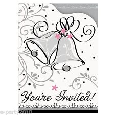 WEDDING AND BRIDAL Wedding Style INVITATIONS (8) ~ Party Supplies Invites Note