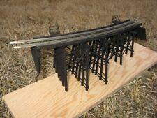 "HO scale Model Railway Wood trestle Bridge  10"" long 4"" high"