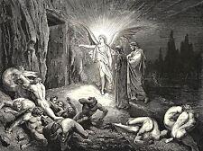 Gustave DORE Inferno canto 9 vieille peinture poster 1233omlv