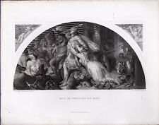 Landseer Etching Rout of Comus and his Band
