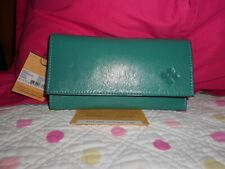 AQUA  color NWT PATRICIA NASH SNAP ON WALLET Leather