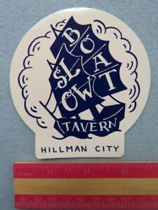 Beer STICKER: SLOW BOAT Beercentric Tavern ~ Hillman City, Seattle, WASHINGTON
