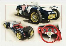 Lotus Seven Series 1  Classic British Sports Car Dugan art Large greeting card