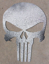 8 Inch PUNISHER SKULL Emblem Metal Wall Art Ornament Craft Stencil Sign
