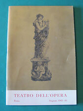 """TEATRO DELL'OPERA ROMA STAGIONE 1965-66 """"LA TRAVIATA"""" DI GIUSEPPE VERDI"""