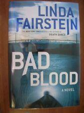 Linda Fairstein Bad Blood 1st ed HC SIGNED