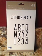 Quickutz License Plate Mini Alphabet