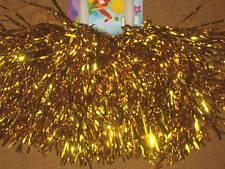 TOP Paar Tanzwedel GOLD METALLIC Pompon Poms Puschel funkelnd gold