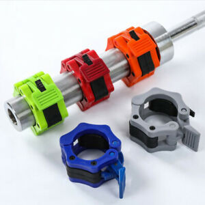"""1Pair 2"""" Spinlock Collars Barbell Collar Lock Dumbell Clips Clamp Weight liftiJC"""