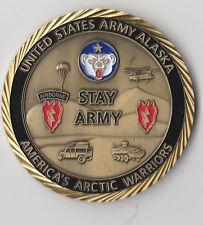 "Alaska  America's Arctic Warriors Oath   Challenge Coin 2 "" DIA C-1"