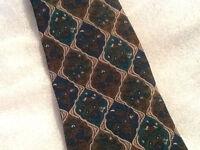 Vintage Valentino Cravatte Tie Valentino Blue and Green Diamond Pattern Italy