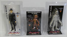 AREA 51 : ALIEN SERIES SET OF FIGURES, ROBOT ALIEN, MEN IN BLACK & CHUPACABRA