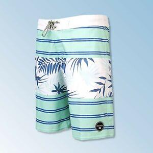 BILLABONG Spinner Print Mens Boardshorts Surf Shorts Swim Trunks Mint 34 NEW