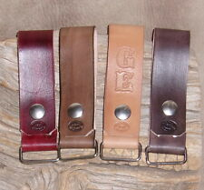 "US Handmade Leather Work Belt Clip Tape Measure Phone Holder ""Free Initials"" G&E"
