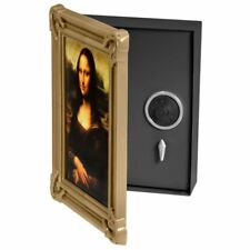 Steel Wall Mount Picture Frame Lock Box Safe W Lock Money Cash Jewelry Storage