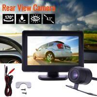 HD Car Reverse Rear View Backup Night Vision Camera With LCD Monitor