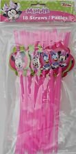 Party Straws DISNEY MINNIE MOUSE Birthday Supplies 18 Pack