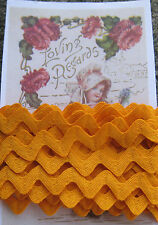 "5 yd ~1/2"" Vintage Sunflower Yellow  Orange Cotton Trim~doll rick rack~old stock"