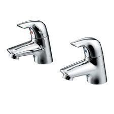 Ideal Standard B 9686 AA Vectis Chrome Single Lever Pair of Bath Pillar Taps