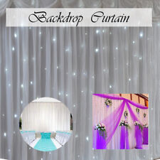 White Backdrop Curtain Glaçon Silk Without Swag Birthday Party Event Photo