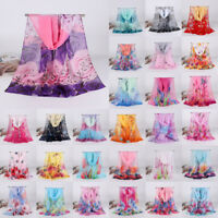 Women Elegant  Long Soft Chiffon Floral Scarf Wrap Shawl Stole Scarves Gifts
