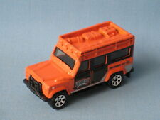 Matchbox Land Rover 110 Defender Orange Body Congo Rain Forest Toy Model Car